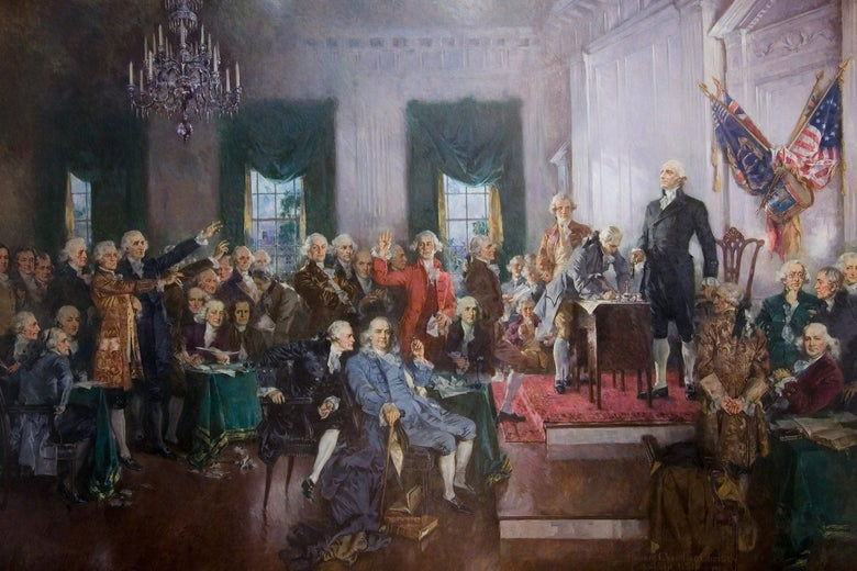 Signing of the Constitution painting by Howard Chandler Christy