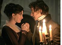 Anne Hathaway and James McAvoy in Becoming Jane         Click image to expand.