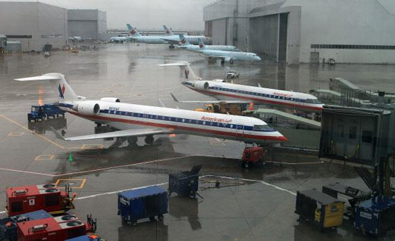 American Airline planes.