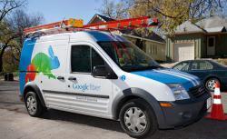 Google Fiber installation van