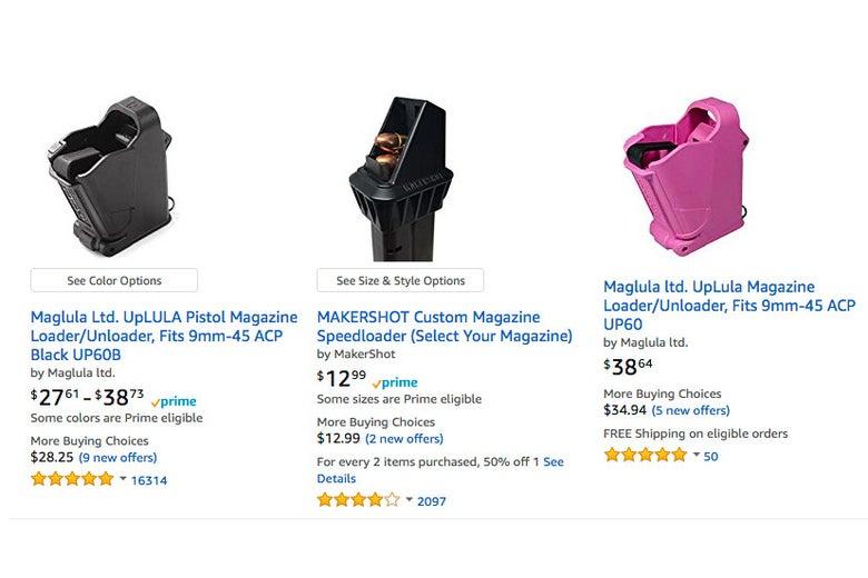 Magazine loaders on Amazon.