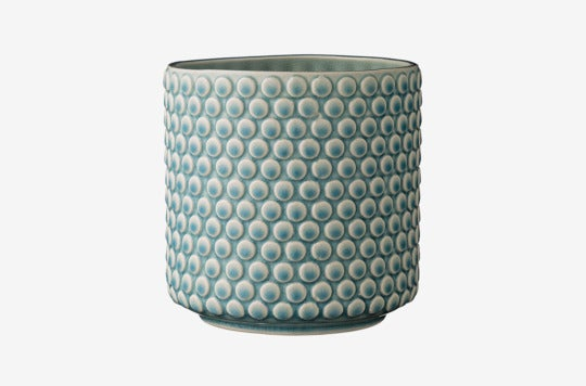 Bloomingville Scalloped Round Ceramic Flower Pot.