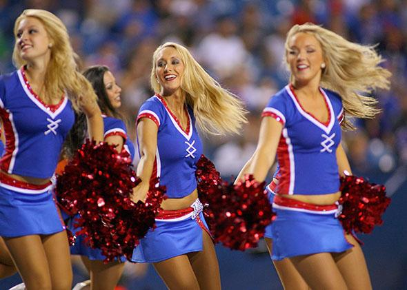 Buffalo Jills cheerleaders.