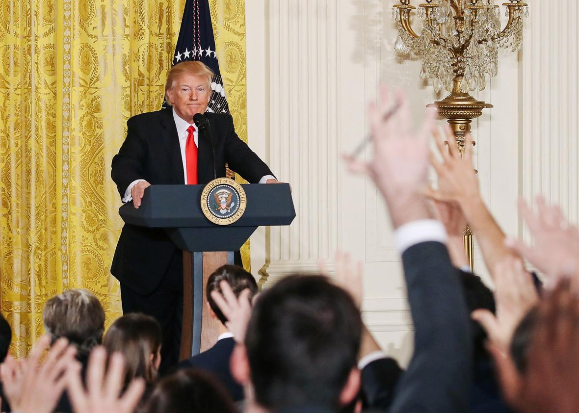 Donald Trump and the press