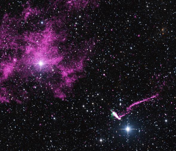 Runaway Pulsar Firing an Extraordinary Jet