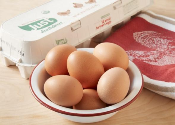 Small eggs taste better, large eggs are more common  So