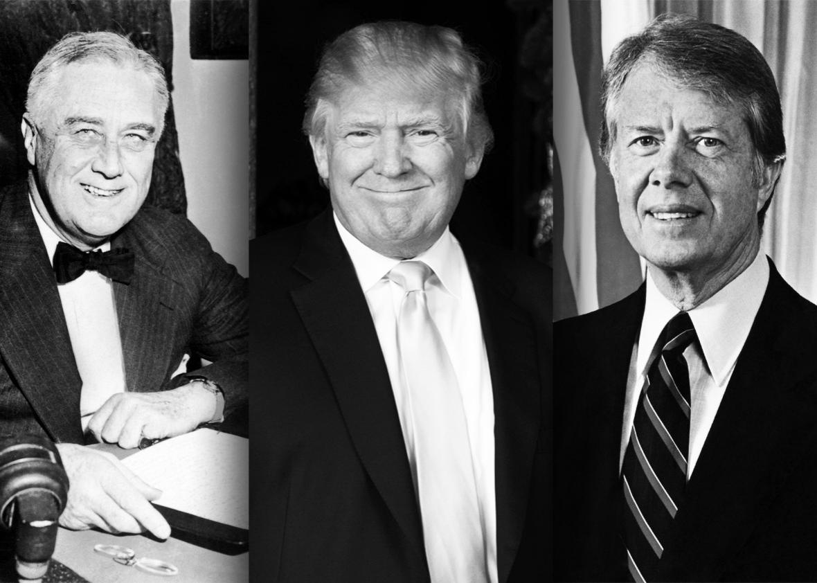 FDR, Trump, Carter.