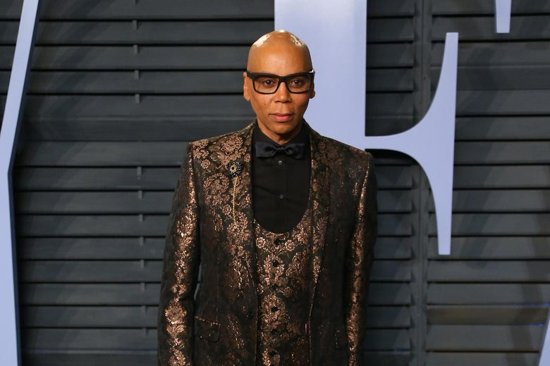 RuPaul attends the 2018 Vanity Fair Oscar Party following the 90th Academy Awards at The Wallis Annenberg Center for the Performing Arts in Beverly Hills, California, on March 4, 2018.  / AFP PHOTO / JEAN-BAPTISTE LACROIX        (Photo credit should read JEAN-BAPTISTE LACROIX/AFP/Getty Images)