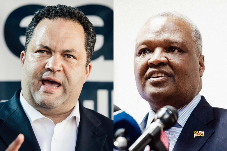 At left: Ben Jealous. At right: Rushern Baker.