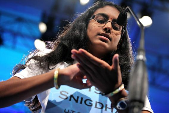 Spelling Bee contestant Snigdha Nandipati.