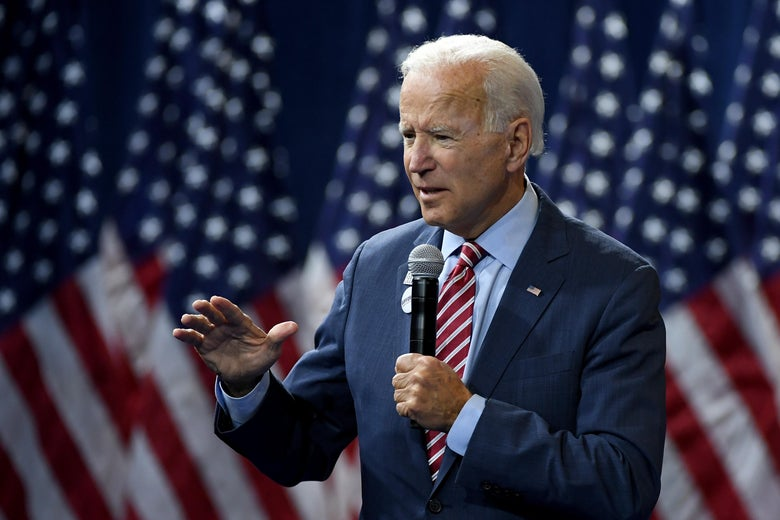 Joe Biden speaks during the 2020 Gun Safety Forum hosted by gun control activist groups Giffords and March for Our Lives at Enclave on October 2, 2019 in Las Vegas, Nevada.