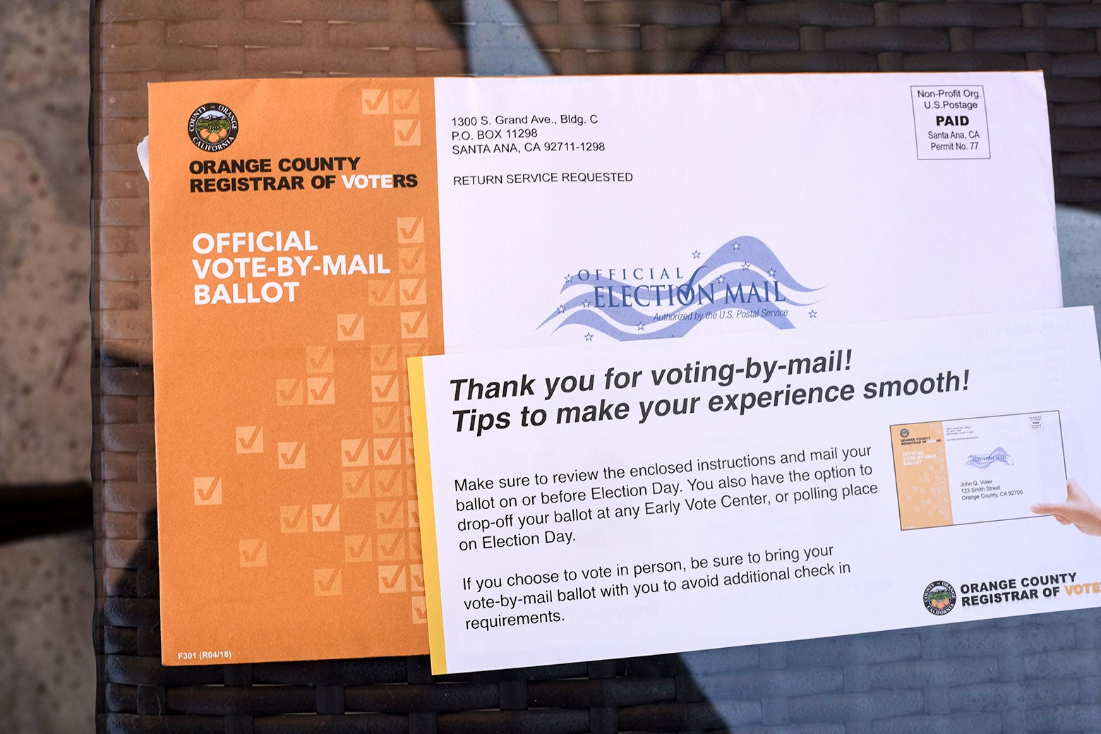 Mail-in ballot.
