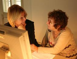 Dr. Beate Kosmala and Hanni Levy. Click image to expand.