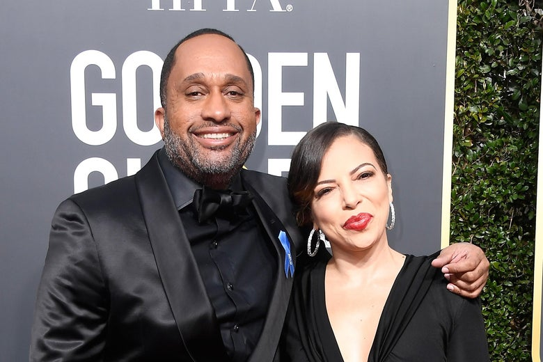 Writer Kenya Barris and Dr. Rainbow Edwards-Barris attend The 75th Annual Golden Globe Awards at The Beverly Hilton Hotel on January 7, 2018 in Beverly Hills, California.