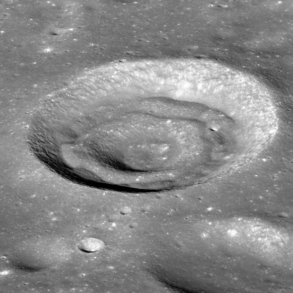 double ring crater on the Moon