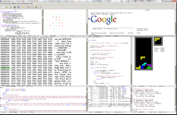 Oldest software rivalry: Emacs and Vi, two text editors used by