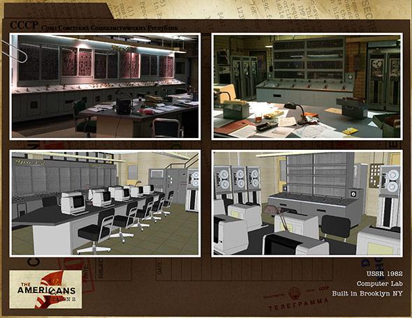 The design for a Soviet computer lab in Season 2.
