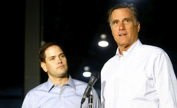 Marco Rubio and Mitt Romney.