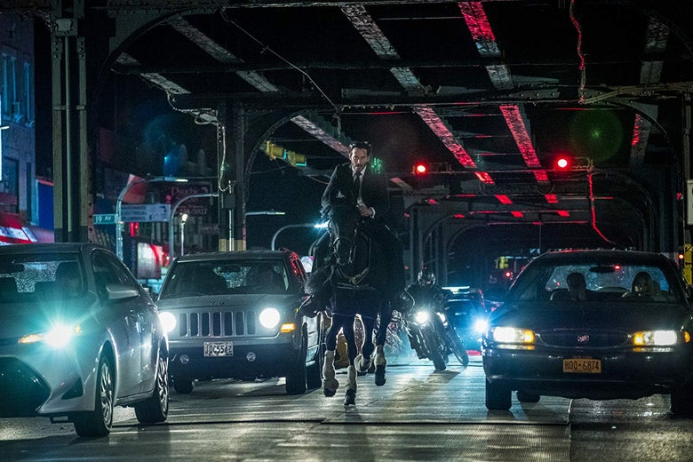 Keanu Reeves in John Wick: Chapter 3—Parabellum.