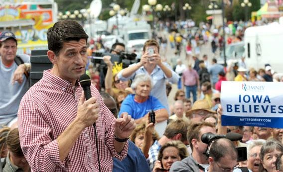 Vice presidential candidate U.S. Rep. Paul Ryan (R-WI).