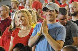 Connie Britton as Tami Taylor, Zach Gilford as Matt Saracen. Click image to expand.