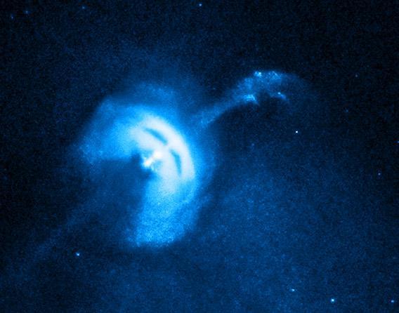 X-ray image of the Vela pulsar