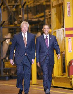 US President Barack Obama and GE Chairman and CEO Jeffrey Immelt. Click image to expand.
