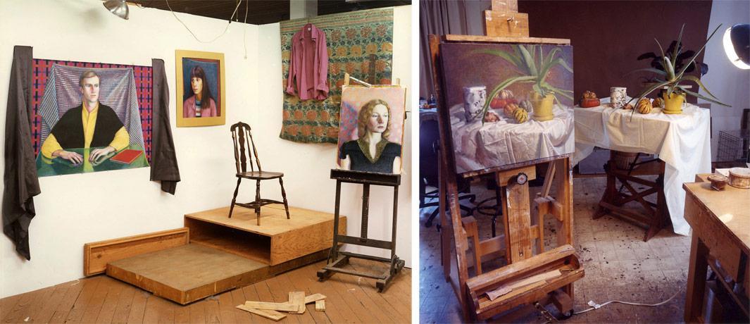 Left: Marge Gapps Studio Philadelphia, Pa. 1979 Right: Steve Tanis's Gallery, Arden Del. 2009