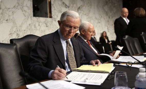 Sen. Jeff Sessions and Sen. Orrin Hatch