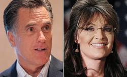 Mitt Romney and Sarah Palin. Click image to expand.